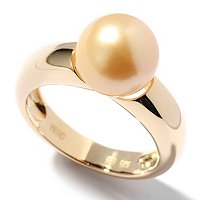 SS/YP 9-10mm GOLDEN SOUTH SEA PEARL RING