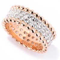 SB SS/CHOICE ROUND PAVE AND BEADED TEXTURE RING