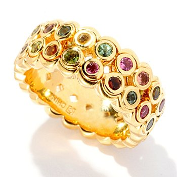 125-517 - Color by Design 1.34ctw Multi Tourmaline Double Row Eternity Ring