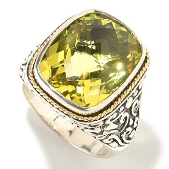125-538 - Sterling Artistry by EFFY 8.50ctw Lemon Quartz Ring