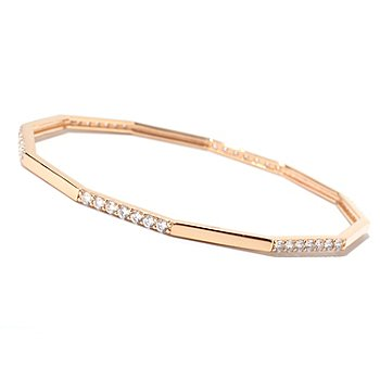125-562 - Sonia Bitton for Brilliante® Round Cut Fancy Shaped Bangle Bracelet