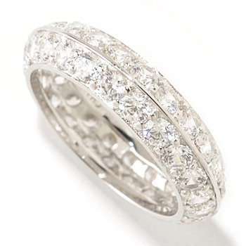 125-581 - Brilliante® Platinum Embraced™ 2.64 DEW Two-Row Angled Eternity Band Ring