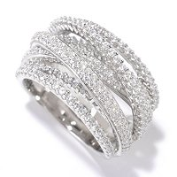 SB SS/CHOICE ROUND CUT LAYERED OVERLAPPING RING