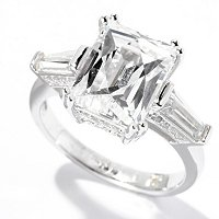TYCOON SS/PLAT RECTANGLE TYCOON CUT AND TAPERED BAGUETTE RING