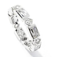 TYCOON SS/CHOICE RECTANGLER AND SQUARE TYCOON CUT ETERNITY BAND RING