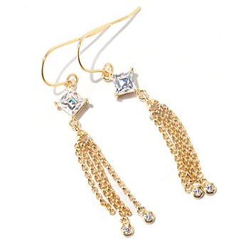 125-692 - TYCOON for Brilliante® 1.58 DEW Square Cut Tassle Drop Earrings