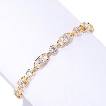 125-694 - TYCOON for Brilliante® Square & Round Tycoon Cut Link Bracelet