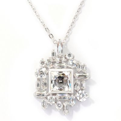 125-698 - TYCOON for Brilliante® Platinum Embraced™ 4.34 DEW Multi Cut 25th Anniversary Pendant