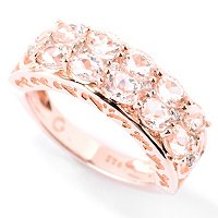 SS/18KV RING MORGANITE & WHITE ZIRCON