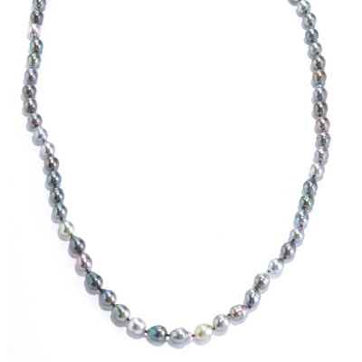 "125-726 - 52"" 9-10mm Round Black Tahitian Cultured Pearl Endless Necklace"