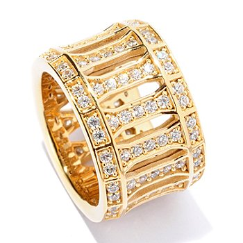 125-746 - Sonia Bitton for Brilliante® 2.03 DEW Round Cut Openwork Eternity Band Ring