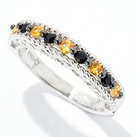 SS BLACK SPINEL CHOICE STACK RING