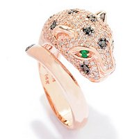 EFFY 14K ROSE GOLD DIAMOND & MULTICOLOR RING