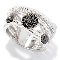 BALISSIMA BY EFFY STERLING SILVER BLACK DIAMOND RING