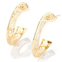 IDS 14K RICAMI HOOP EARRINGS