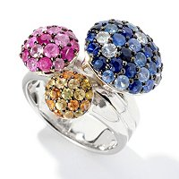 BALISSIMA BY EFFY STERLING SILVER MULTICOLOR RING