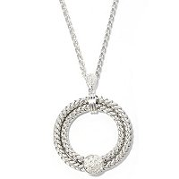 BALISSIMA BY EFFY STERLING SILVER DIAMOND PENDANT