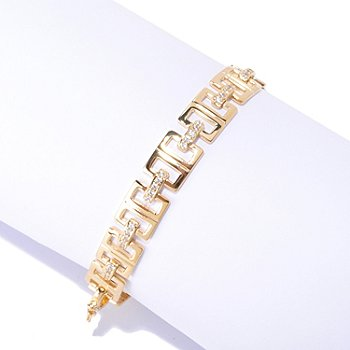 125-851 - Sonia Bitton for Brilliante® Round Pave Set Link Line Bracelet