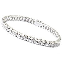 SB SS/CHOICE BEZEL SET TENNIS BRACELET