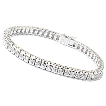 125-852 - Sonia Bitton for Brilliante® Polished Round Bezel Set Tennis Bracelet