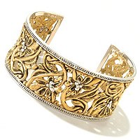 SS/BRONZE ECO SECRET GARDEN CUFF