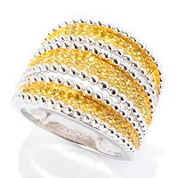 SS 3 ROW BEAD RING DIAMONDS