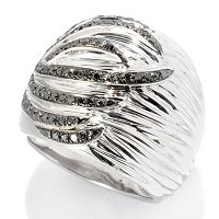 SS TEXTURED WIDE RING