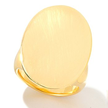 125-960 - Milano Luxe Gold Embraced™ Polished Oval Ring