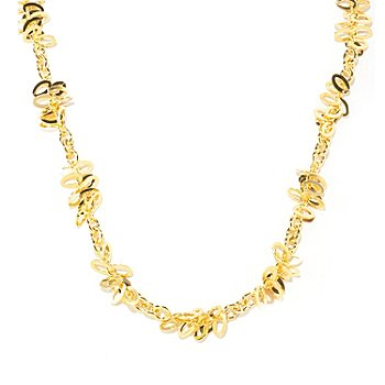 125-961 - Milano Luxe Gold Embraced™ 24'' Polished Cluster Station Necklace
