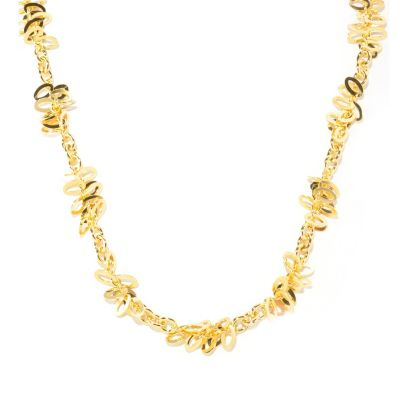 "125-961 - Milano Luxe Gold Embraced™ 24"" Polished Cluster Station Necklace"