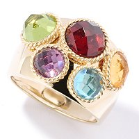 SEMPREGOLD 14K MULTI GEM RING