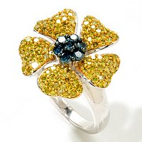 SS PAVE FLOWER RING