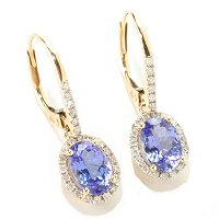 14K CHOICE OF STONE EXOTIC DROP EARRING