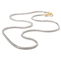 SS/PALL NECK WHEAT CHAIN w/ TWIST-OFF CLASP