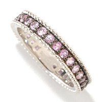 SS BEAD EDGE COLORS OF SAPP ETERNITY BAND