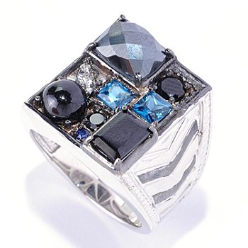126-036 - Men's en Vogue II 5.97ctw Multi Gemstone ''Manhattan'' Ring