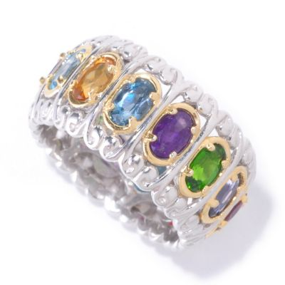 "126-047 - Gems en Vogue II Multi Gemstone ""Carousel"" Eternity Band Ring"