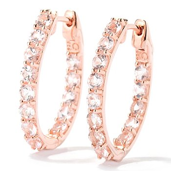 126-116 - NYC II 2.29ctw Morganite Inside-Out Hoop Earrings