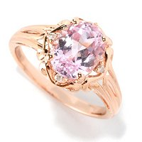 14K RG OVAL KUNZITE RING