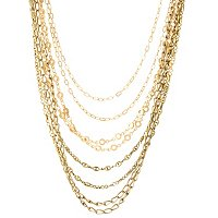 "18"" MULTI STRAND LINK NECKLACE"