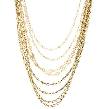126-286 - mariechavez 18'' Multi Strand Chain Link Necklace