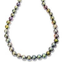 "SS 18"" 11-12mm DYED MULTI-COLOR FWP NECKLACE"