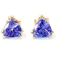 14K CHOICE TRILLION TANZANITE EARRINGS