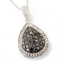 SS .5CTW BLACK DIAMOND PENDANT