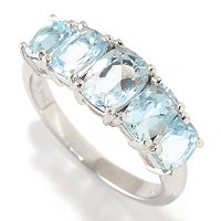 14K WG AQUAMARINE 5 STONE RING
