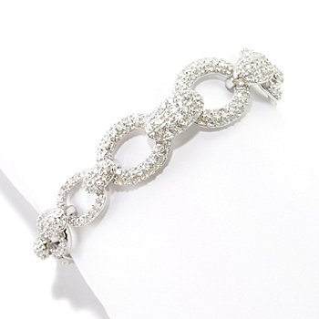 126-427 - Charlie Lapson for Brilliante® Polished Pave Set Link Bracelet