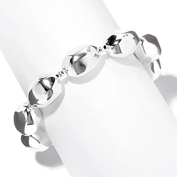 126-440 - SempreSilver™ Electroform Polished Nugget Bracelet