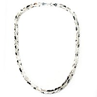 SEMPRESILVER POLISHED AND TEXTURED TWIST NECKLACE