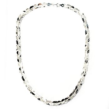 126-445 - SempreSilver™ Polished & Textured Twist Necklace
