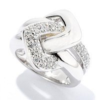 SB SS/CHOICE ROUND CUT PAVE INTERLOCKING RING